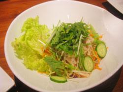 水菜とエノキのバリバリサラダ