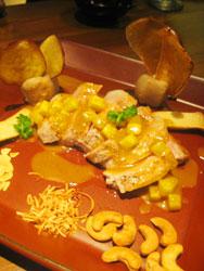 豚ロース肉のロースト パイナップルソース