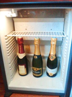 シャンパーニュ ホテルの冷蔵庫