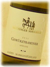 ブリッツィンゲン醸造協同組合|ゲヴュルツトラミナー シュペートレーゼ [2011] 750ml